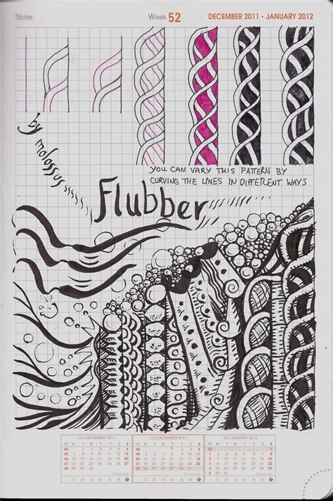 zentangle pattern blog my tangle pattern flubber