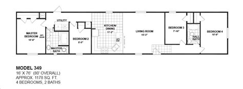 4 bedroom single wide mobile home floor plans floorplans photos oak creek manufactured homes