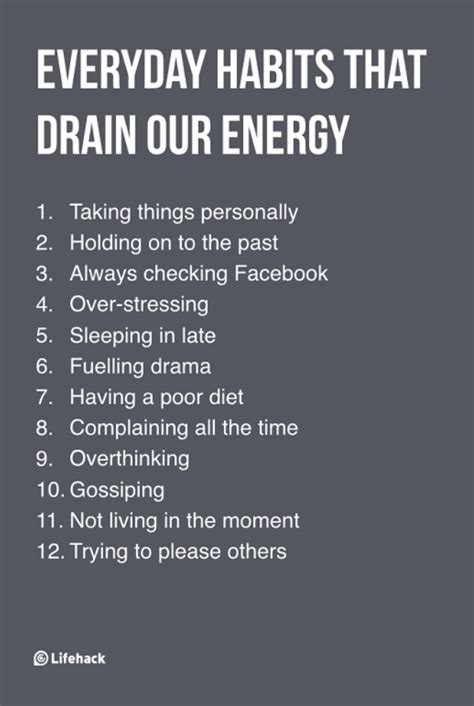 7 Things That Drain Your Energy by Everyday Habits That Drain Our Energy Self Care
