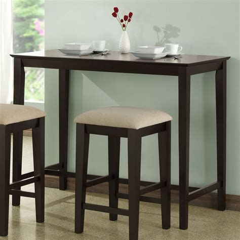 Kitchen Bar Tables Shop Monarch Specialties Cappuccino Rectangular Counter Height Dining Table At Lowes
