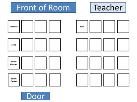 Classroom Seating Chart Template Doliquid Classroom Seating Chart Template