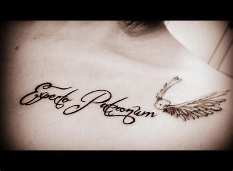 expecto patronum tattoo expecto patronum wingardium leviosa