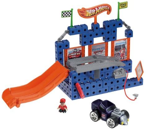 Trio Hot Wheels Lift n Go Garage   Trio Blocks