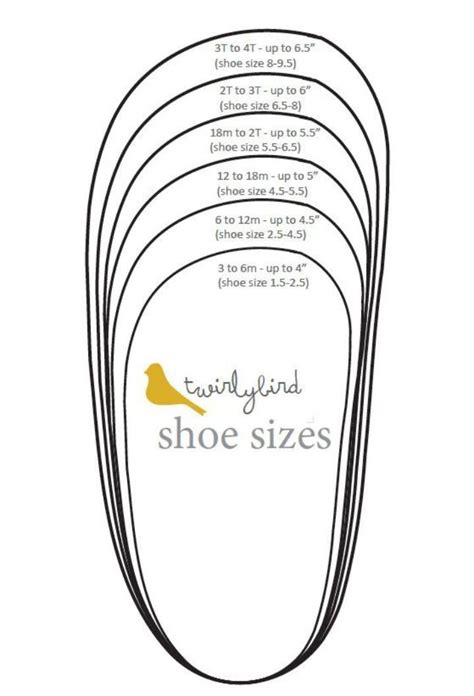 infant shoe sizes pinteres