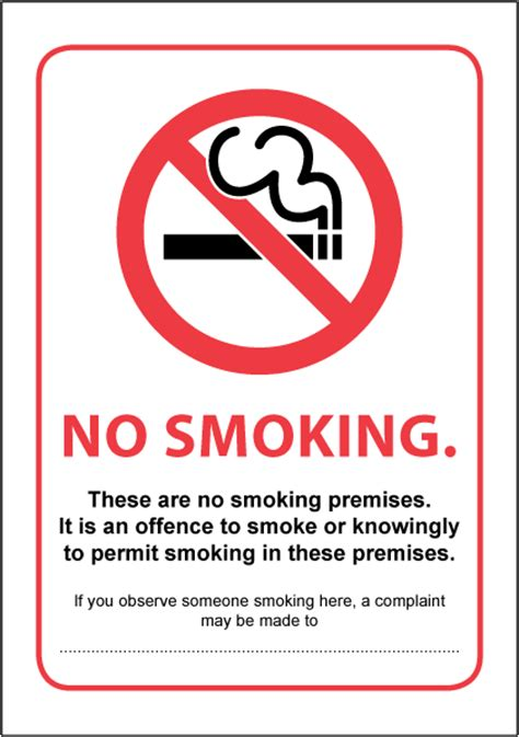 No Smoking Signage Requirements Scotland | it is against the law to smoke scotland first safety signs