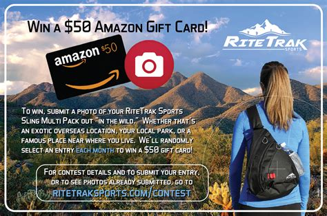 Amazon Gift Card Contest - contest win a 50 amazon gift card ritetrak sports