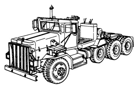 coloring pages tractor tractors free colouring pages