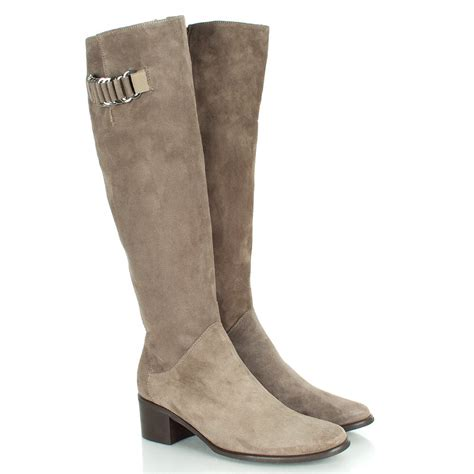 womens knee high boots daniel taupe emming women s knee high boot