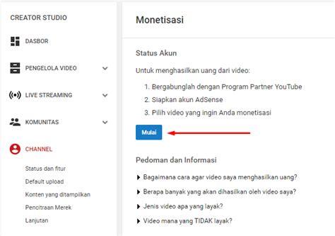 cara mudah mendaftar google adsense melalui youtube cara super mudah daftar google adsense melalui youtube