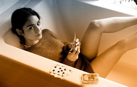 vanessa hudgens bathtub wallpaper card bath waiting smile log folder your