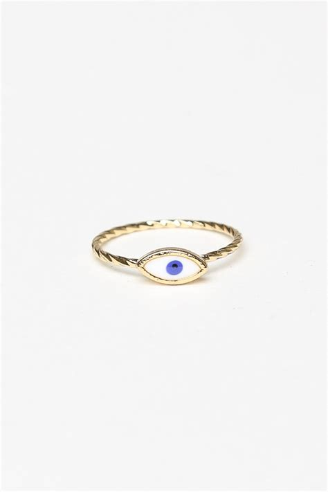melville gold evil eye ring rings jewelry