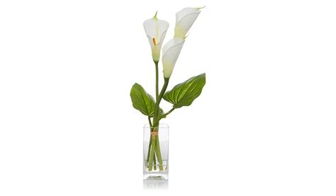Artificial Lilies In Vase by George Home Artificial Calla In Vase Home Garden