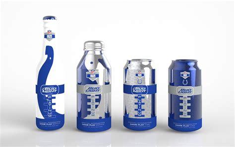 bud light aluminum bottles nfl student bud light platinum game play the dieline