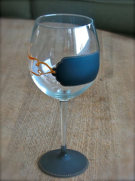 painting chalkboard paint on wine glasses 17 best images about wine glass diy on how to