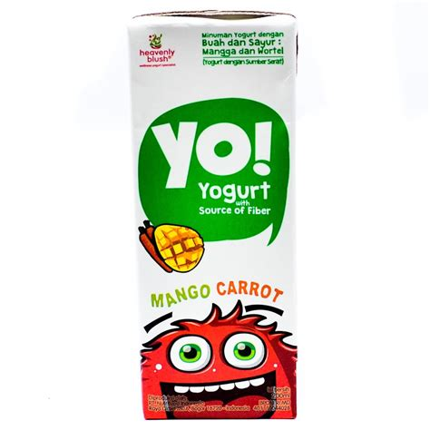 Heavenly Blush Yogurt Yo Mango Carrot 24x200ml supplier groceries