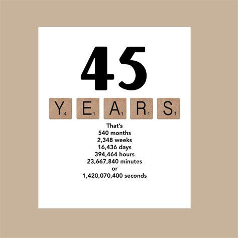 45 Birthday Card 45th Birthday Card Milestone Birthday Card 1971 Birthday