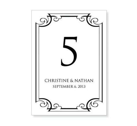Table Number Template Printable Instant Download For Word And Pages Mac And Pc Flourish Table Number Templates For Word
