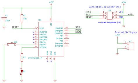 pull up resistors with pins configured as input attiny2313 input pins