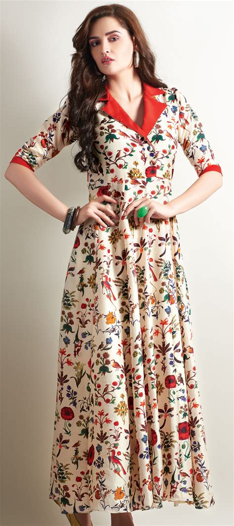 kurti pattern for stitching 455563 beige and brown color family stitched long kurtis