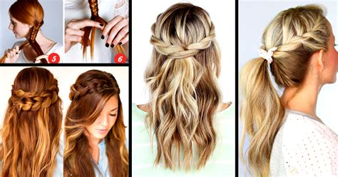 easiest type of diy hair braiding 30 cute and easy braid tutorials that are perfect for any