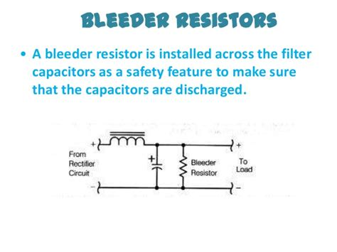 bleed resistor ppt on power supplies by prince kumar kusshwaha rjit