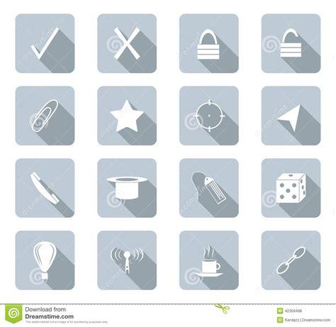 design icon button flat design icons stock illustration image 42359498