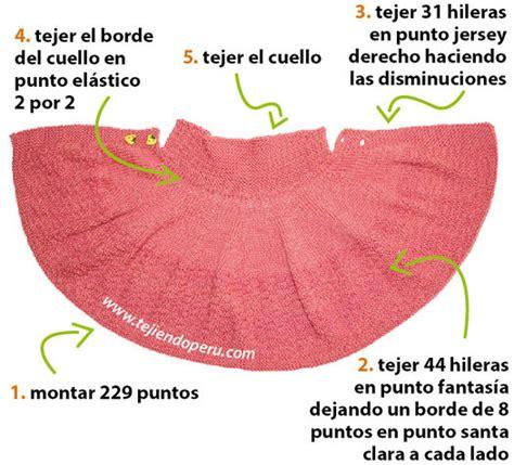 como tejer capa para ninas con dos agujas capa con cuello para ni 241 as tejiendo per 250