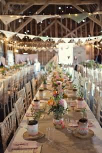 Rustic Wedding Decorations 30 Romantic Indoor Barn Wedding Decor Ideas With Lights