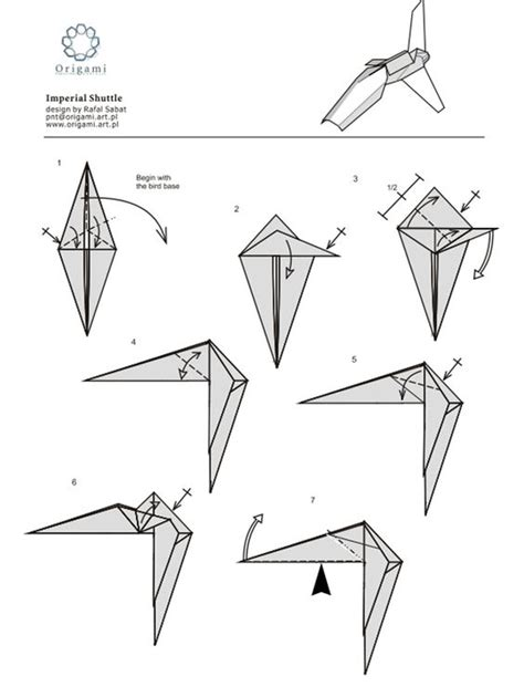 Wars Origami - 10 diagrams to create your own quot wars quot origami