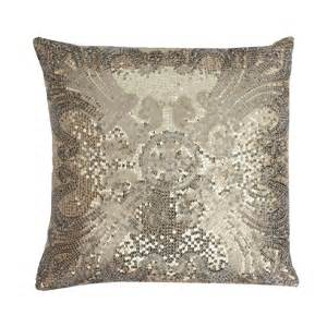 Gold Sparkle Pillow by Ludo Sequin Pillow