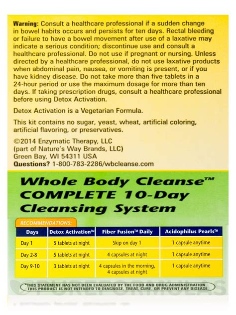 Whole Detox System by Whole Cleanse Complete 10 Day Cleansing System 10
