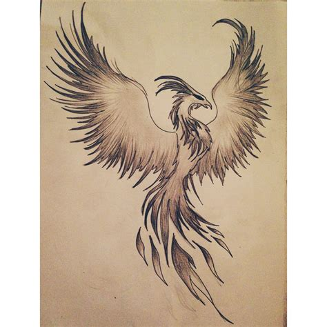 tattoo designs phoenix rising drawing ideas