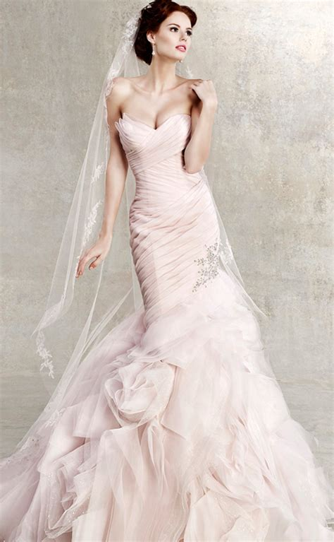 Wedding Dresses Pink by Pink Wedding Dress Dressed Up