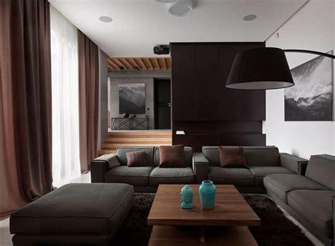 Wohnzimmer Einrichten Grau Braun wohnzimmer in grau und schwarz gestalten 50 wohnideen