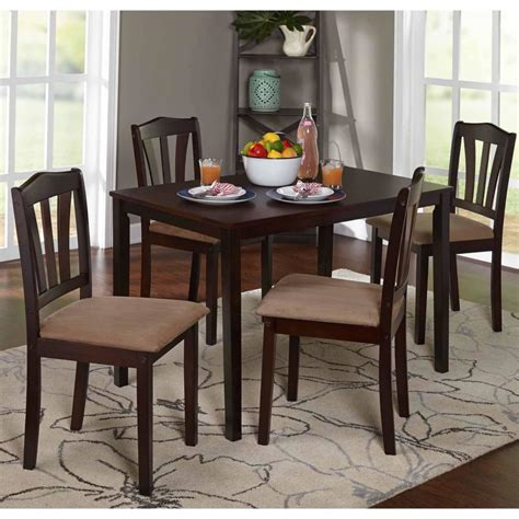 kitchen metropolitan 5 dining set espresso