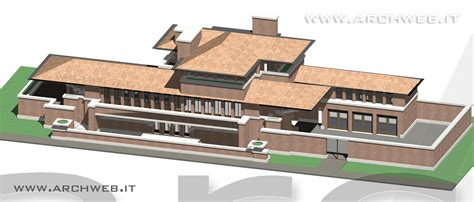 3d House robie house 3d di f l wright