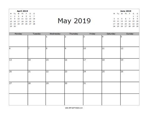 Calendar 2019 May May 2019 Calendar Free Printable Allfreeprintable