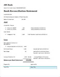 Trust Account Reconciliation Template by Doc 460595 Bank Reconciliation Template Bank