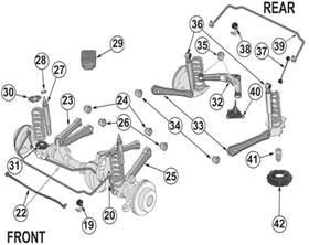 1993 jeep grand front suspension diagram 1996