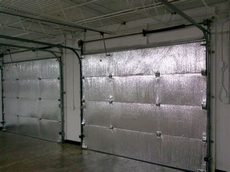 Insulated Overhead Doors Make Your Garage Energy Efficient Easy Install Of Radiant Barrier Insulation To Garage Doors
