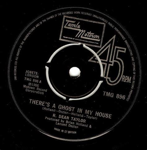 Records In My House R Dean There S A Ghost In My House Vinyl Record 7 Inch Tamla Motown 1974