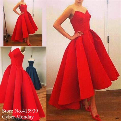 2016 long short prom dresses cocktail dresses prom red prom dresses 2016 sweetheart off the shoulder short