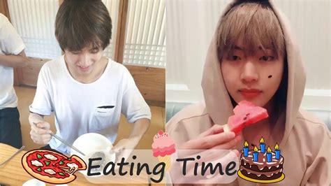 kim taehyung eating taehyung eating time youtube