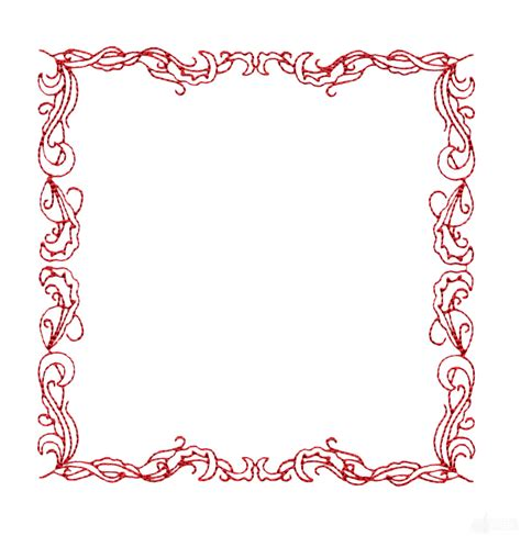 Design Frame | redwork frame embroidery design