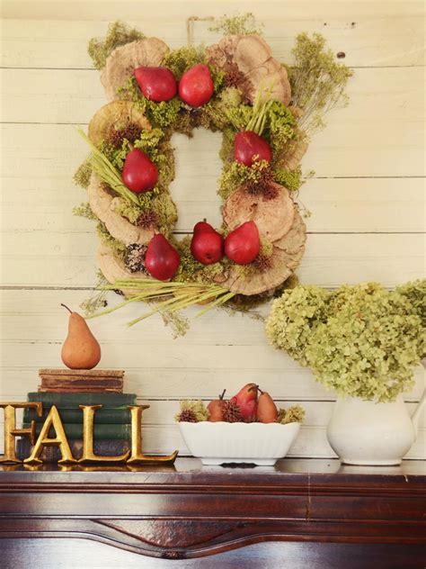 hgtv fall decorating how to make a rectangular rustic fall wreath hgtv