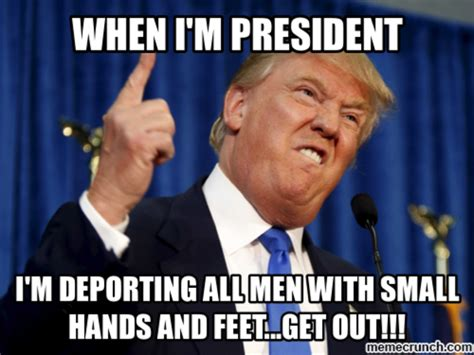 deporting small hands peeps donald trumps small hands