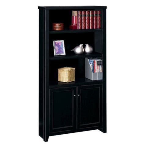 Black Bookcase With Doors by Tribeca Loft 5 Shlf Black Bookcase 70 Quot By Martin