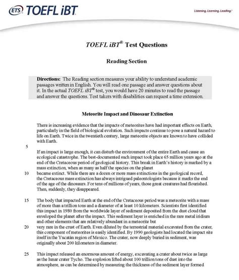 toefl test toefl junior practice test pdf seodiving