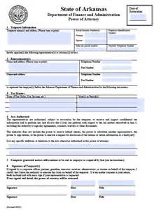 free tax power of attorney arkansas form fillable pdf