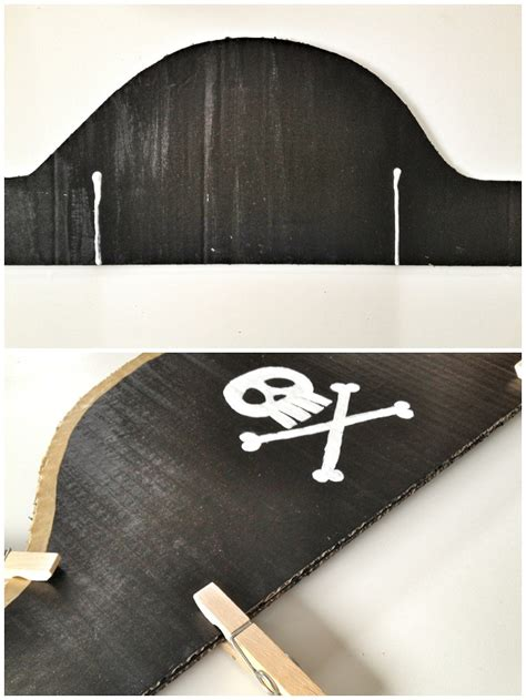 Handmade Pirate Hats - the pirate hat one of our favourite craft ideas for children